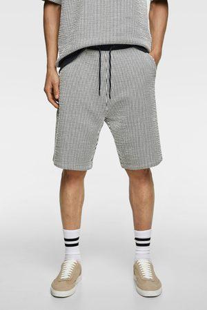 Zara Seersucker bermuda shorts