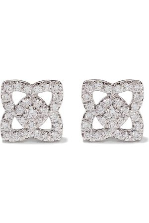 De Beers Naiset Nappikorvakorut - 18kt Enchanted Lotus diamond small stud earrings