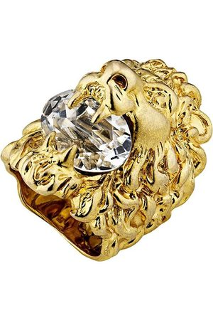 Gucci Naiset Sormukset - Lion head ring with crystal