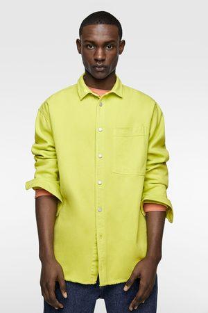 Zara Neon denim shirt