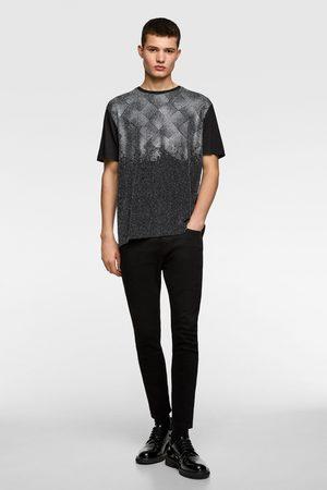 Zara T-shirt with shiny beads