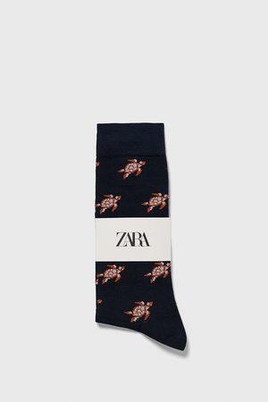 Zara Turtle print jacquard socks