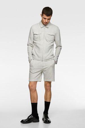 Zara Miehet Bermuda-shortsit - Striped textured weave bermuda shorts