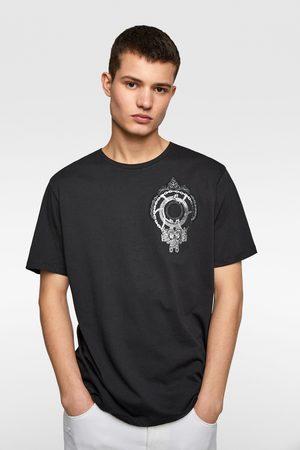 Zara T-shirt with metallic crest
