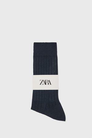 Zara Miehet Sukat - Premium quality ribbed mercerised cotton socks