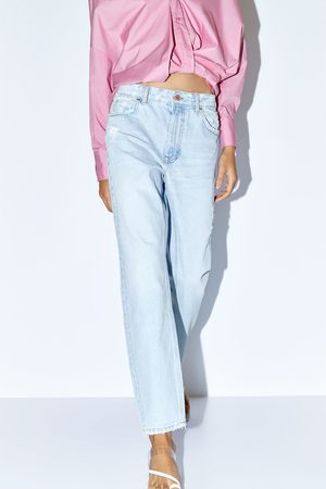 Zara Z1975 ripped mom jeans
