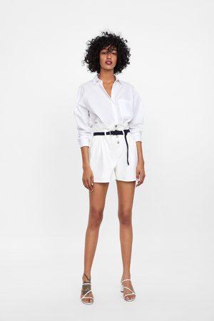 Zara Paperbag shorts with belt
