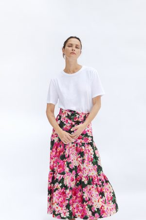 Zara Printed skirt with belt