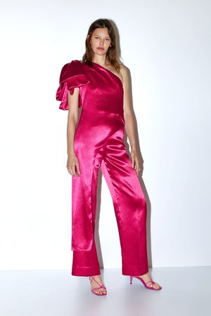 Zara Limited edition satin wide-leg trousers
