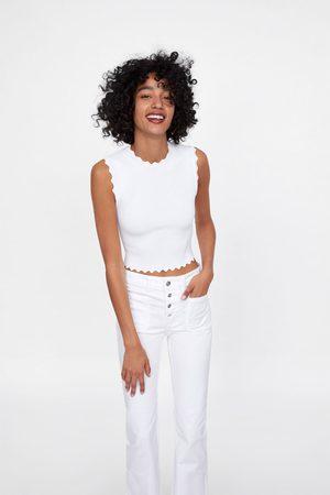 Zara Z1975 flared buttoned jeans