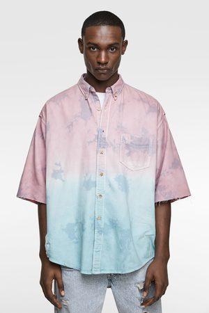 Zara Ripped tie-dye shirt