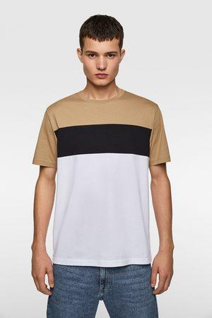 Zara Miehet T-paidat - Colour block t-shirt