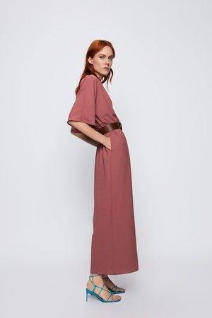 Zara Naiset Haalarit - Wrap jumpsuit with belt