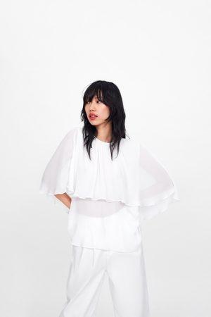 Zara Pleated cape blouse