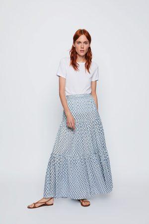 Zara Naiset Printtihameet - Long printed skirt