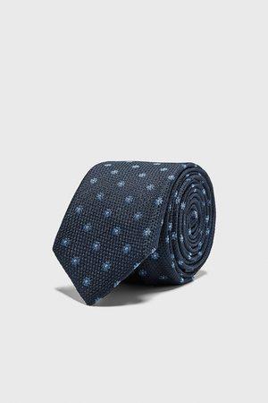 Zara Miehet Solmiot - Floral jacquard skinny tie