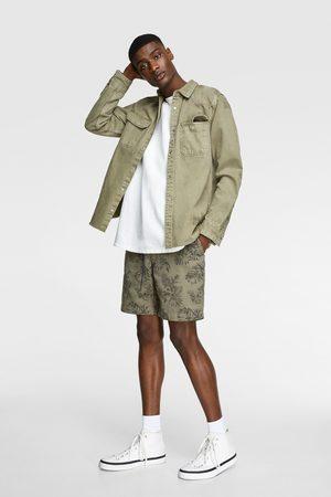 Zara Miehet Bermuda-shortsit - Rustic bermuda shorts with drawstring detail
