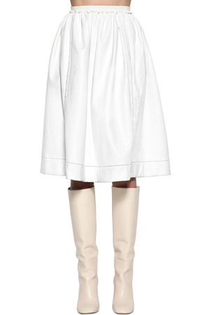 Marni Naiset Nahkahameet - High Waist Faux Patent Leather Skirt
