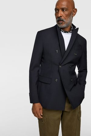 Zara Double-breasted wool blazer