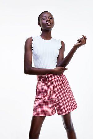 Zara Gingham check bermuda shorts