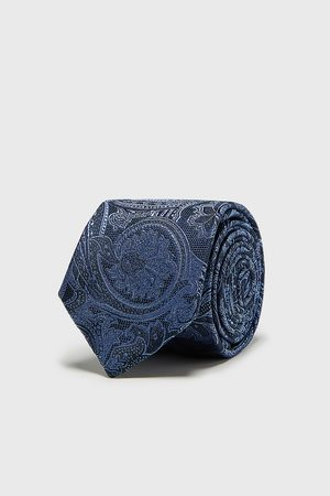 Zara Miehet Solmiot - Paisley jacquard wide tie