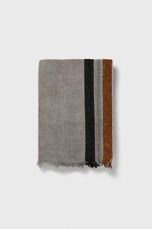 Zara Miehet Huivit - Contrast striped scarf