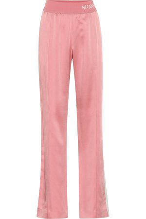 Moncler Wide-leg satin trackpants