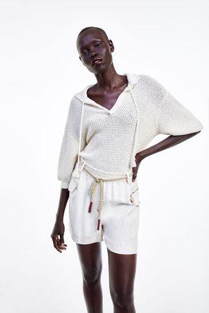 Zara Cargo bermuda shorts with zips
