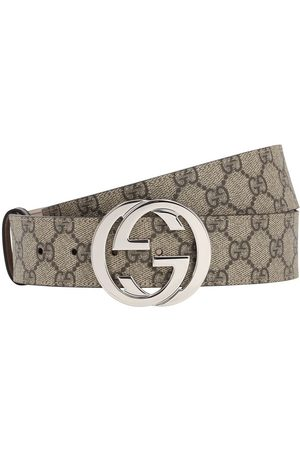 Gucci Miehet Vyöt - 40mm Gg Supreme Logo Leather Belt