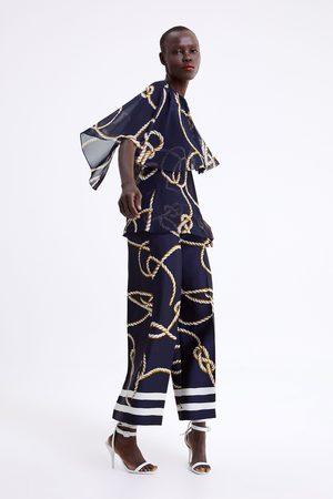 Zara Knot print culottes