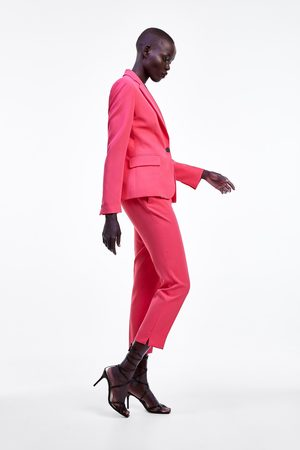Zara Naiset Kapeat Housut - Skinny trousers