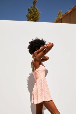 Zara Printed playsuit with scrunchie