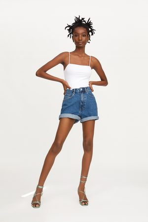 Zara Authentic denim mom fit bermuda shorts
