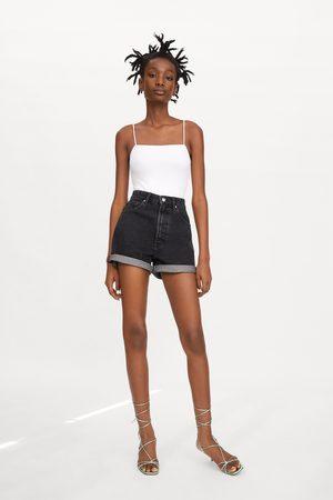 Zara Naiset Bermuda-shortsit - Authentic denim mom fit bermuda shorts