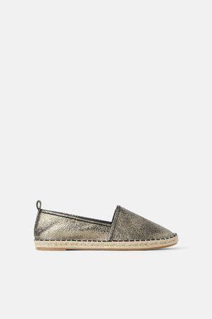 Zara Metallic espadrilles