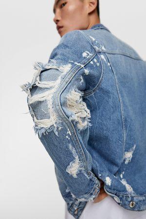 Zara Denim jacket with patches