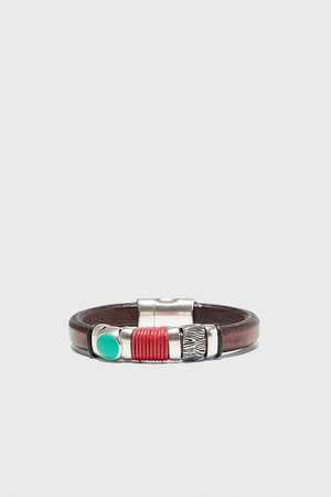 Zara Leather bracelet with contrast string