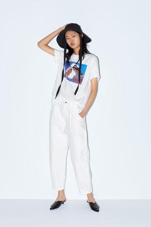 Zara Naiset T-paidat - Aladdin © disney t-shirt