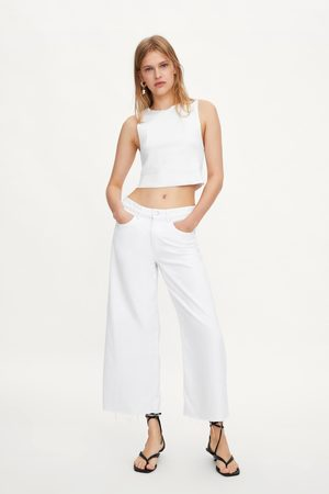 Zara Mid-rise culotte jeans