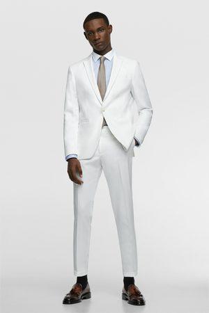 Zara Miehet Housut - Textured suit trousers