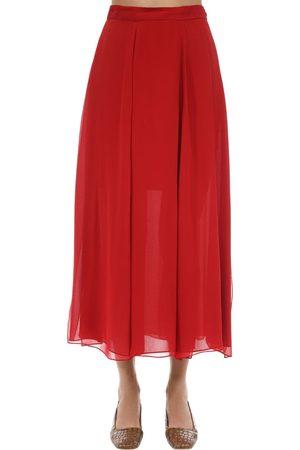 Max Mara Naiset Midihameet - Layered Silk Crepe Midi Skirt