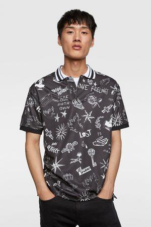 Zara Printed polo shirt