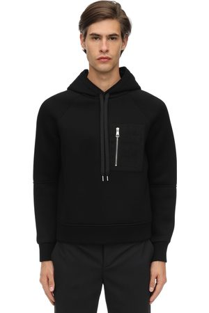 Neil Barrett Viscose Hoodie W/ Faux Leather Pocket