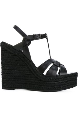 Saint Laurent Tribute espadrille wedge sandals