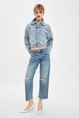 Zara Straight-leg mid-rise jeans