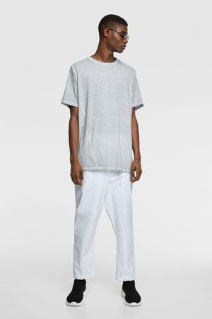 Zara Faded asymmetric t-shirt