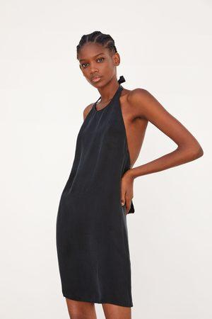Zara Flowing halter neck dress