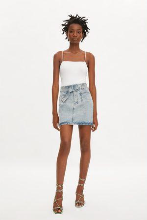 Zara Denim mini skirt with belt