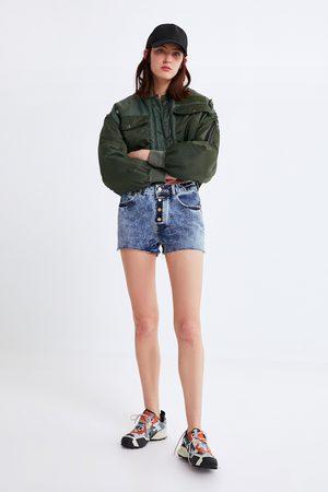 Zara Buttoned denim shorts