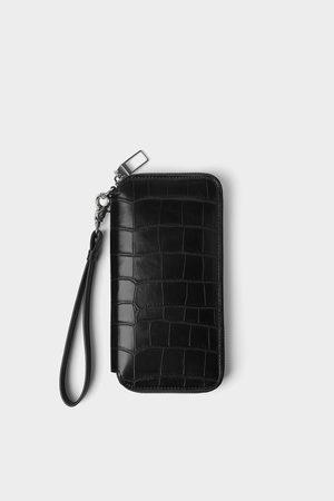 Zara Oversized reptile texture wallet